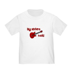 Big Sisters Rock! red guitar T