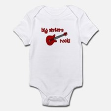 Big Sisters Rock! red guitar Infant Bodysuit