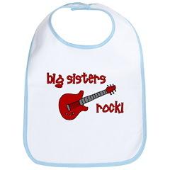Big Sisters Rock! red guitar Bib