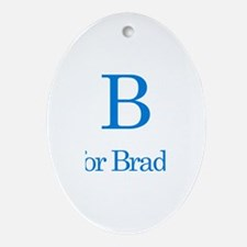 B is for Bradley Oval Ornament