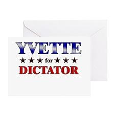 YVETTE for dictator Greeting Card