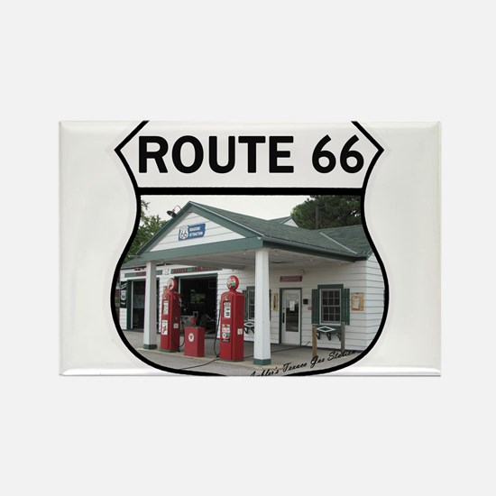 Route 66 - Amblers Texaco Gas Station - Dwi Magnet