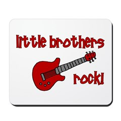 Little Brothers Rock! red gui Mousepad