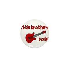 Little Brothers Rock! red gui Mini Button