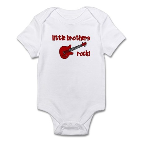 Little Brothers Rock! red gui Infant Bodysuit