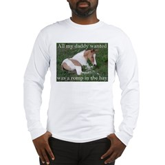 Sleeping foal Long Sleeve T-Shirt