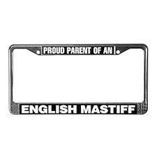 English Mastiff License Plate Frame