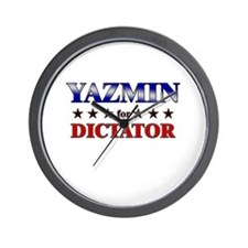 YAZMIN for dictator Wall Clock
