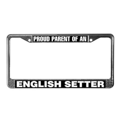English Setter License Plate Frame