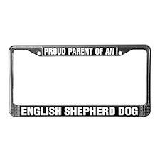 English Shepherd Dog License Plate Frame