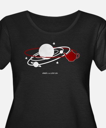 orbitteapot-for-dark-with-logo Plus Size T-Shirt
