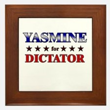 YASMINE for dictator Framed Tile