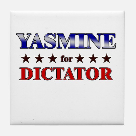 YASMINE for dictator Tile Coaster