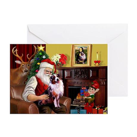 Santa's Aussie (Cindy's) Greeting Cards (Pk of 10)
