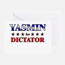 YASMIN for dictator Greeting Card