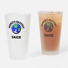 World's Okayest Saige Drinking Glass