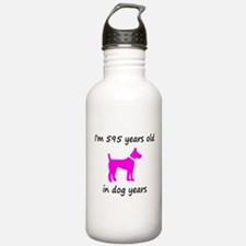 85 Dog Years Hot Pink Dog 1C Water Bottle