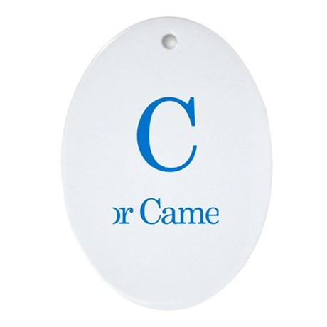 C is for Cameron Oval Ornament