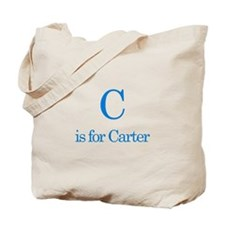 C is for Carter Tote Bag