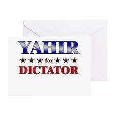 YAHIR for dictator Greeting Card