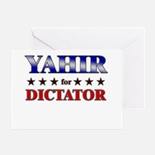 YAHIR for dictator Greeting Card