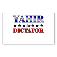 YAHIR for dictator Rectangle Decal