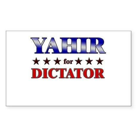 YAHIR for dictator Rectangle Sticker