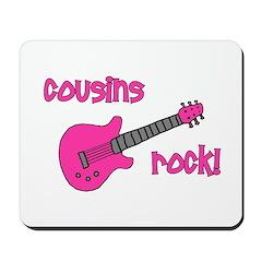 Cousins Rock! pink guitar Mousepad