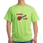 Cousins Rock! pink guitar Green T-Shirt
