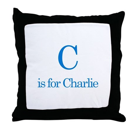 C is for Charlie Throw Pillow