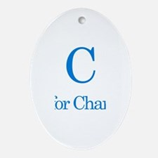 C is for Charlie Oval Ornament