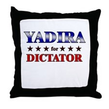 YADIRA for dictator Throw Pillow