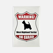 Westy On Guard Rectangle Magnet
