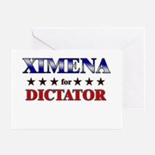 XIMENA for dictator Greeting Card