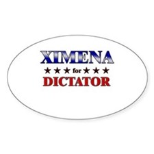 XIMENA for dictator Oval Decal