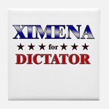 XIMENA for dictator Tile Coaster