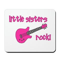 Little Sisters Rock! pink gui Mousepad