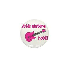 Little Sisters Rock! pink gui Mini Button