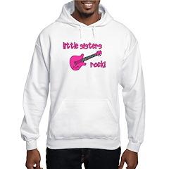 Little Sisters Rock! pink gui Hoodie