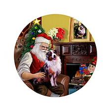 """Santa's Aussie (Cindy's) 3.5"""" Button"""