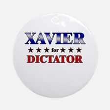 XAVIER for dictator Ornament (Round)