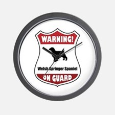 Welshie On Guard Wall Clock