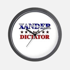 XANDER for dictator Wall Clock