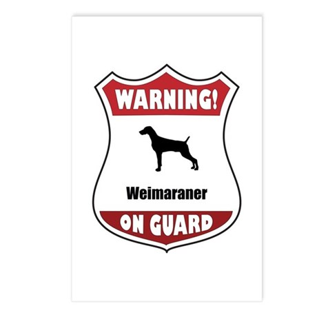 Weimaraner On Guard Postcards (Package of 8)