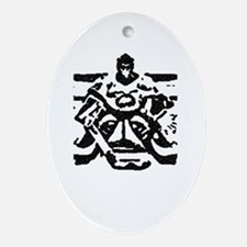 Hockey goalie Oval Ornament