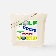 Golf Rocks Sylvia's World - Tote Bag
