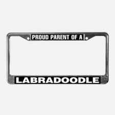 Proud Parent of a Labradoodle License Plate Frame