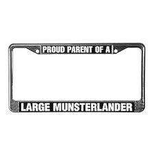 Large Munsterlander License Plate Frame