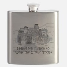 I Have Permission To Wear the Crown Today Flask