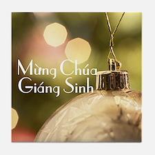 Vietnamese Merry Christmas Tile Coaster